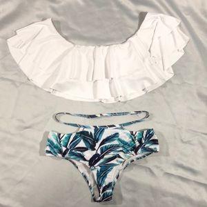 Other - Ruffle Top Bikini Bottom 2X